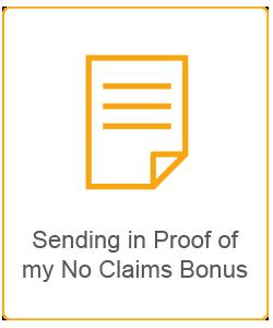 sending in proof of my no claims bonus